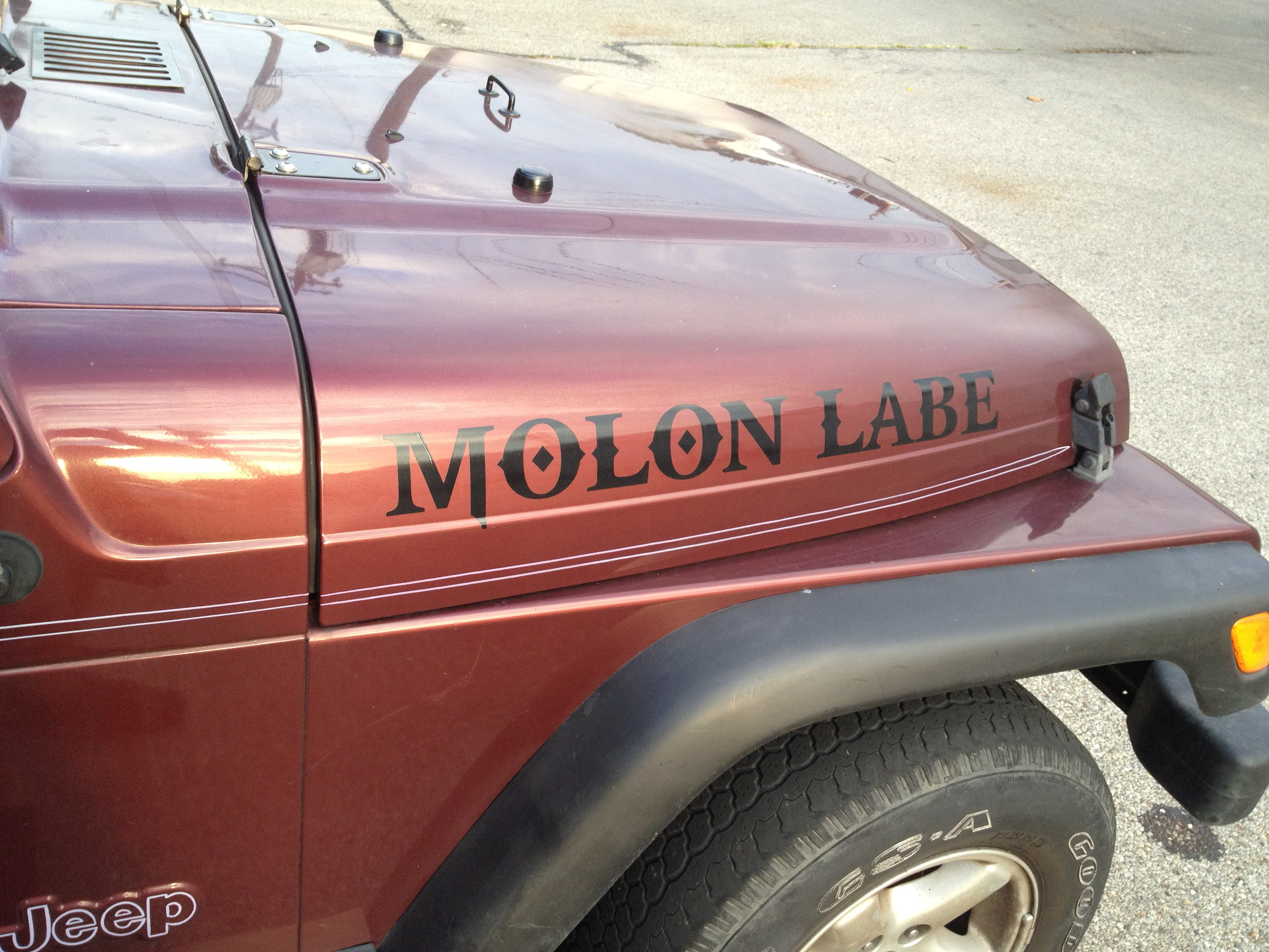 Molonlabe decal